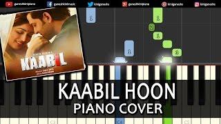 Kaabil Hoon|Hrithik Roshan|Song|Piano Chord Tutorial Instrumental Karaoke By Ganesh Kini