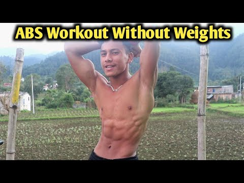 ABS Workout Without Weights | Bodyweight ABS Workout | ANISHFAM |