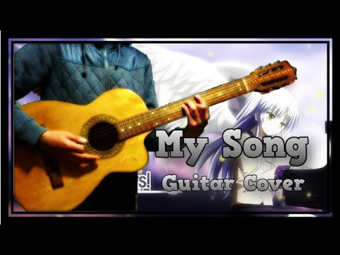 Chords My Song Angel Beats Iwasawa Acoustic Cover Jp Youtube