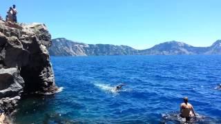 Crater Lake swimming