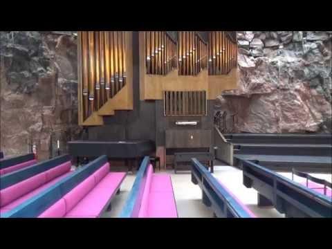 Helsinki. Temppeliaukion kirkko. Церковь в скале.