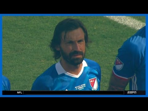 Andrea Pirlo vs Arsenal (Friendly) 29/07/2016 | English Commentary | HD