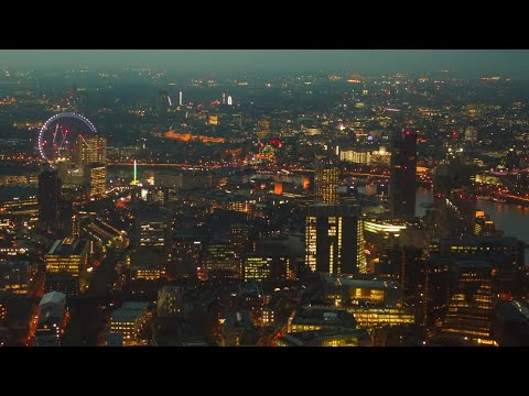 Aerial Shot Of West And Central London  Stock Video