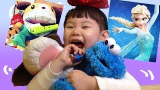 호비 이 닦는 강아지 인형과 노래하는 칫솔 장난감 놀이  Dog Wash them Eat Candy! Hobby Toys Sesame Street 라임튜브