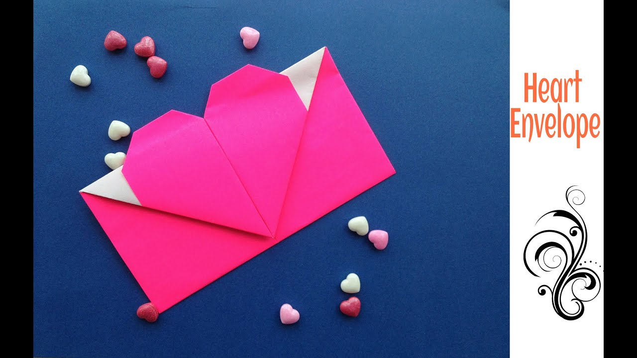 Heart Envelope 💌 from A4 sheet (Valentine special) - DIY