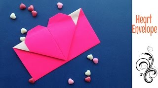 Heart Envelope 💌 from A4 sheet (Valentine special) - DIY Origami Tutorial by Paper Folds ❤️