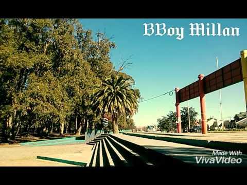 BBoy Millan Saltando escalera de media luna sin manos parkour Necochea Argentina