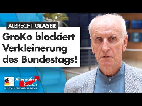 Wahlrechtsreform: GroKo blockiert Verkleinerung des Bundestags! - Albrecht Glaser - AfD-Fraktion