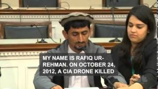 Pakistani Man Testifies before US Congress CIA Drone Kills My 67 year old Mother, Wounds Children