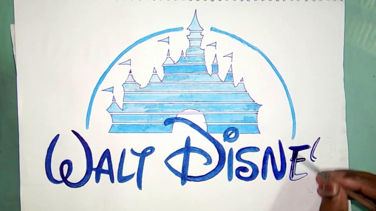 How To Draw The Walt Disney Castle Youtube