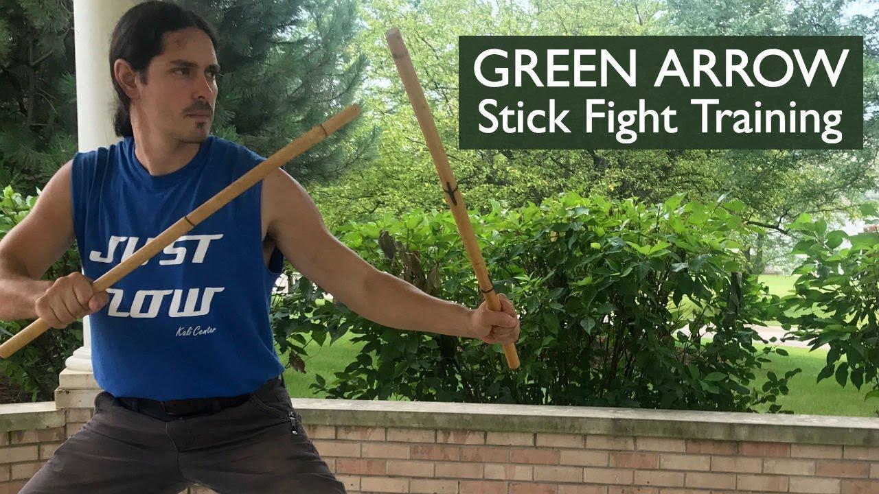 Green Arrow Stick Fighting Training