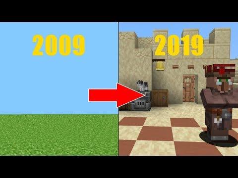 The Minecraft Evolution 2009 2019 Youtube