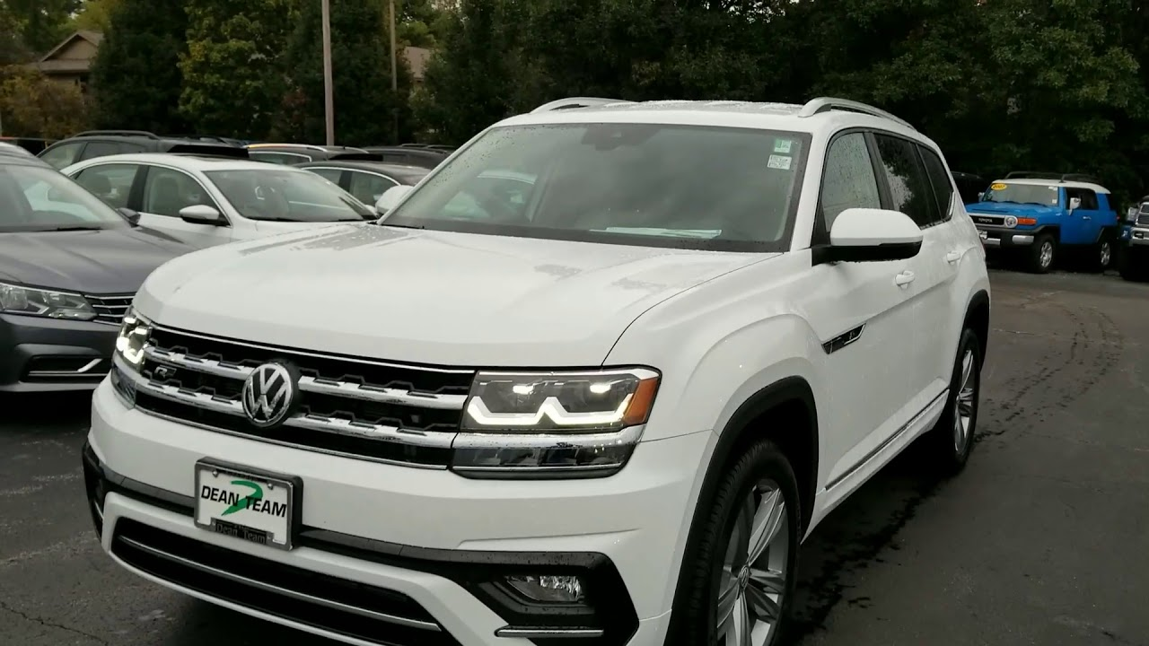 2018 vw atlas 3 6 se w technology and r line package youtube. Black Bedroom Furniture Sets. Home Design Ideas