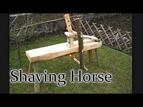 shaving horse plans. building a traditional shaving horse - with dimensions plans