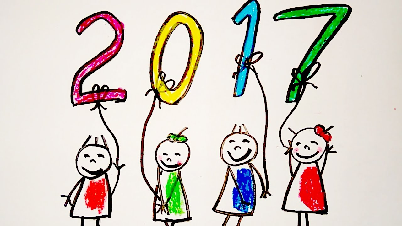 happy new year card drawing new year greeting card drawing happy new year drawing for kids youtube