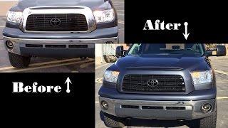Painting Over Chrome Tundra Grill Surround