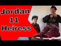 Nike Air jordan 11 Heiress Red Velvet Night Maroon Review