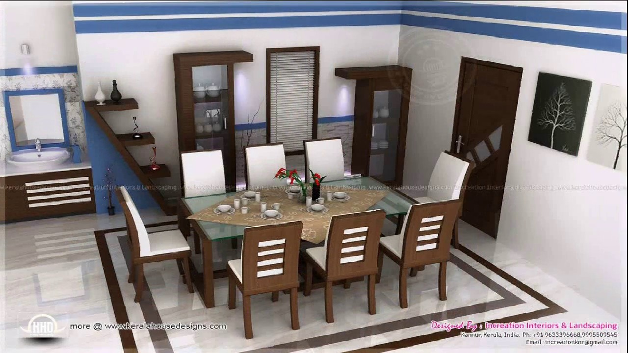 Kerala home dining room design youtube for Dining room designs kerala