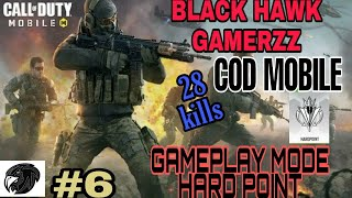 28 kills//GAMEPLAY MODE HARD POINT//COD MOBILE GAMEPLAY//BY:- MSDAVE04