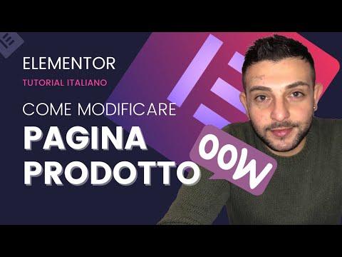 Woocommerce Creare Template Prodotto con Elementor pro