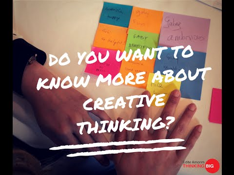 "Promo Online Course ""Creative Thinking - Opening perspectives and thinking big"""