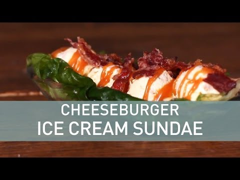 Cheeseburger Ice Cream Sundae Recipe with Crazy Toppings