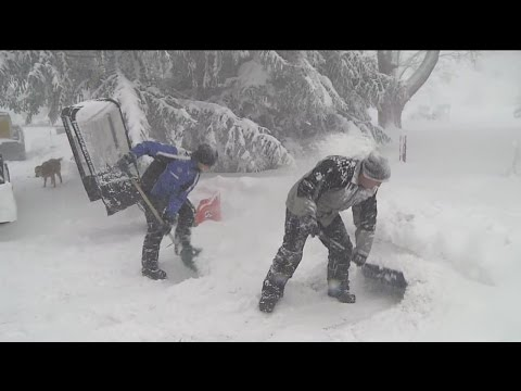 Lake Effect Snow Storm Buries Hamburg
