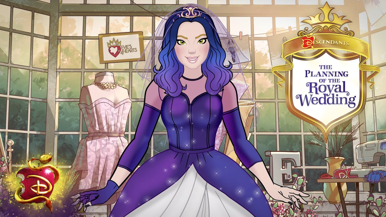 A Dress Fit for a Queen 👰  | Mal and Ben's Royal Wedding | Descendants