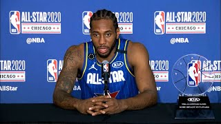 Kawhi Leonard on winning the Kobe Bryant MVP award | 2020 NBA All-Star Game