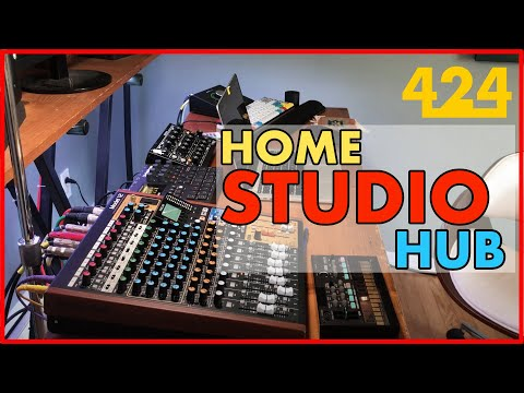 TASCAM MODEL 12 AS A HOME STUDIO MIXER/HUB   424recording.com
