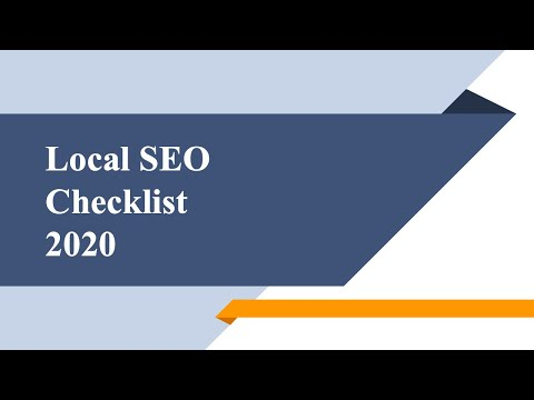 Local SEO Checklist 2018 - How to Get...