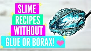 Testing Popular No Glue No Borax Slime Recipes! How To Make Slime Without Glue Or Borax TESTED