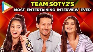 Tiger Ananya & Tara's ROCKING Interview Debutant Quiz Funny Rapid Fire Salman Kartik Sara