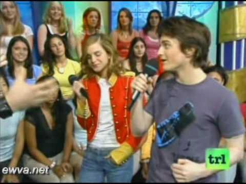 Emma Watson & Daniel Radcliffe on TRL Live (2004)