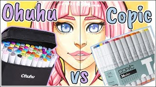 Ohuhu Markers vs Copic Markers - Marker Review