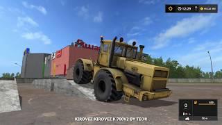 Farming Simulator 2017. Карта Россия. Трактор Кировец К-700А. Плуг  ПЛН 8-35.