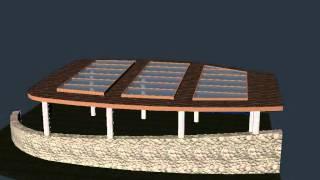 Остекление навеса. 3D визуализация. Вариант 2.(, 2013-04-08T15:33:46.000Z)