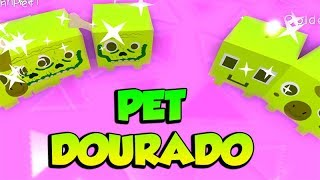 HOW TO MAKE FAST GOLDEN PET IN PET SIMULATOR-ROBLOX