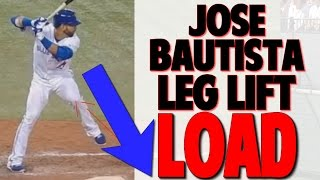 Jose Bautista | How to Properly Execute the Leg Lift Load (Pro Speed Baseball)