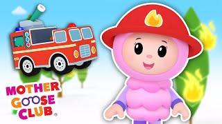 Fire Engine, Fire Engine + More | Mother Goose Club Cartoons #NurseryRhymes