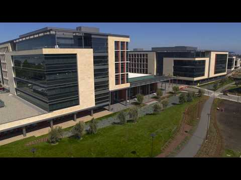 Aerial views of Stanford Redwood City