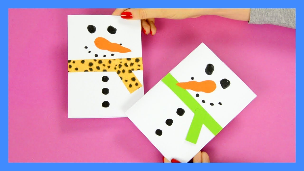 card craft ideas free snowman card craft for 3503