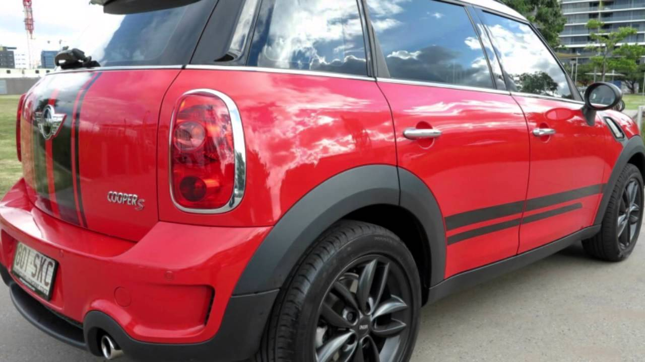 2011 mini countryman r60 cooper s chilli chilli red 6 speed manual wagon youtube. Black Bedroom Furniture Sets. Home Design Ideas