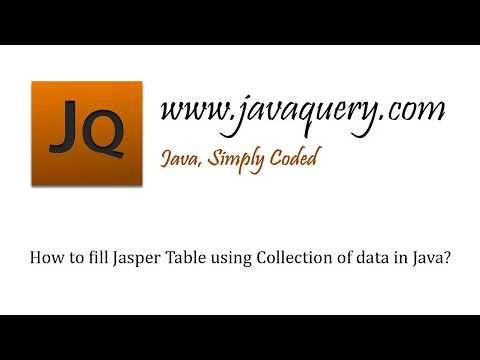 Java by examples: How to fill Jasper Table using Collection