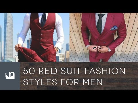 50 Red Suit Fashion Styles For Men - Maroon