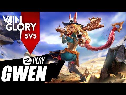 VAINGLORY 5x5 AGORA NO PC (Versão Oficial) -  GWEN GAMEPLAY BR (Português - BR)