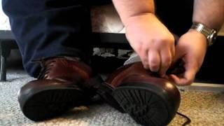 Putting on my Nunn Bush saddle shoes