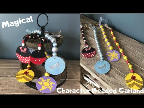 Disney Character Inspired Beaded Garland for Home Decor