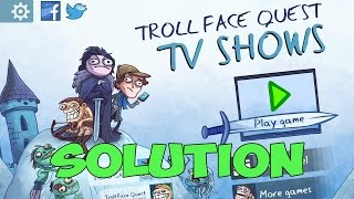 Troll Face Quest TV Shows Walkthrough All Levels Solution