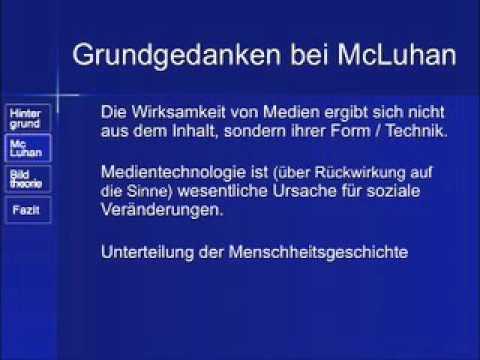 McLuhan Theory und Anmerkungen - Seminar von Dr. Klaus Sachs
